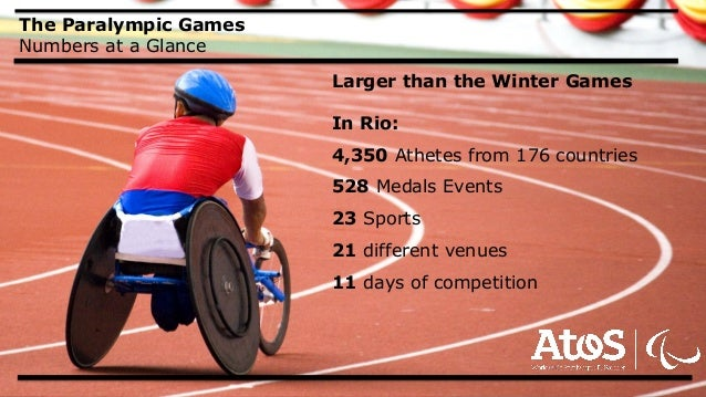 Your business technologists. Powering progress The Paralympic Games Numbers at a Glance Larger than the Winter Games In Ri...