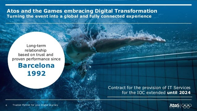 Atos and the Games embracing Digital Transformation Turning the event into a global and fully connected experience Contrac...