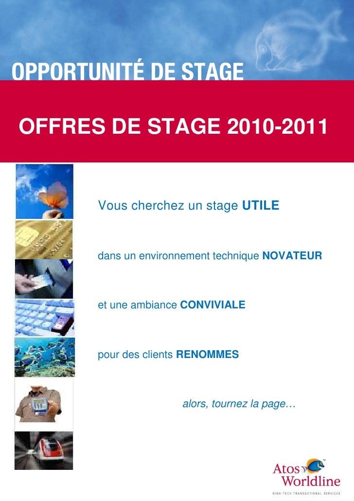 Atos Worldline - Book Stages 2010-2011 Lyon
