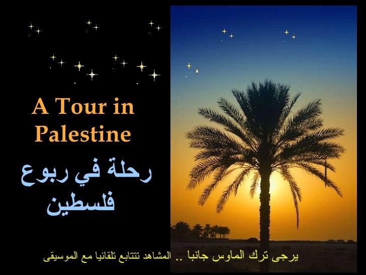 A Tour in Palestine رحلة في ربوع فلسطين   يرجى ترك الماوس جانبا  ..  المشاهد تتتابع تلقائيا مع الموسيقى