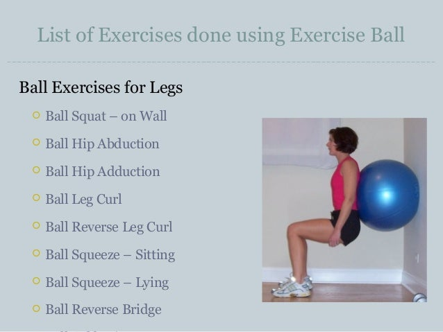 A to z of exercise stability ball