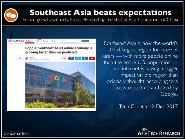 Future growth will only be accelerated by the shift of Risk Capital out of China #asiamatters Southeast Asia beats expecta...