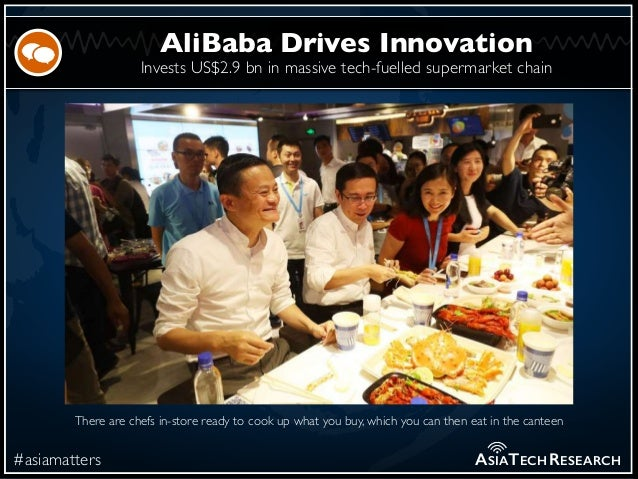 Invests US$2.9 bn in massive tech-fuelled supermarket chain #asiamatters AliBaba Drives Innovation ASIATECHRESEARCH There ...