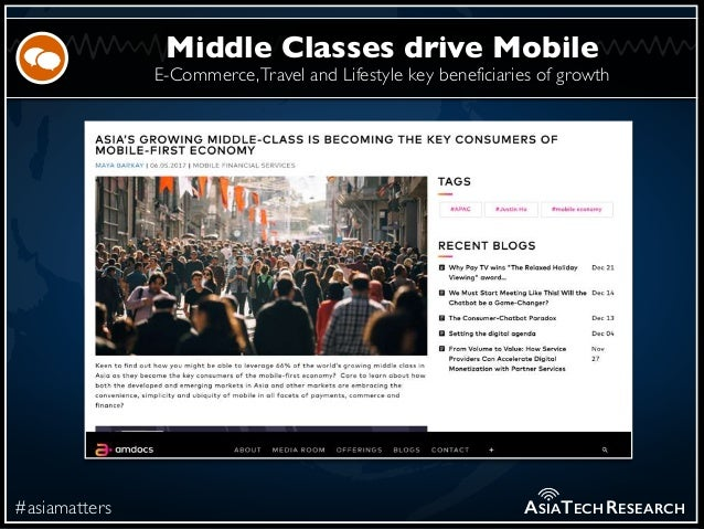E-Commerce,Travel and Lifestyle key beneficiaries of growth #asiamatters Middle Classes drive Mobile ASIATECHRESEARCH