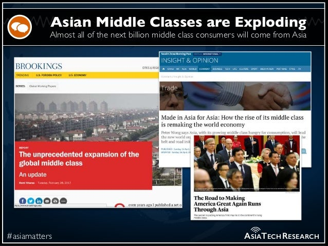 Almost all of the next billion middle class consumers will come from Asia #asiamatters Asian Middle Classes are Exploding ...