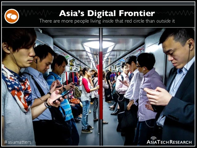There are more people living inside that red circle than outside it #asiamatters Asia's Digital Frontier ASIATECHRESEARCH