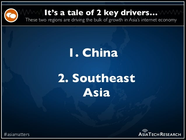 These two regions are driving the bulk of growth in Asia's internet economy #asiamatters It's a tale of 2 key drivers… ASI...
