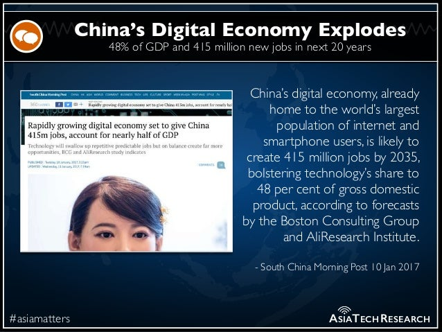 48% of GDP and 415 million new jobs in next 20 years #asiamatters China's Digital Economy Explodes ASIATECHRESEARCH China'...