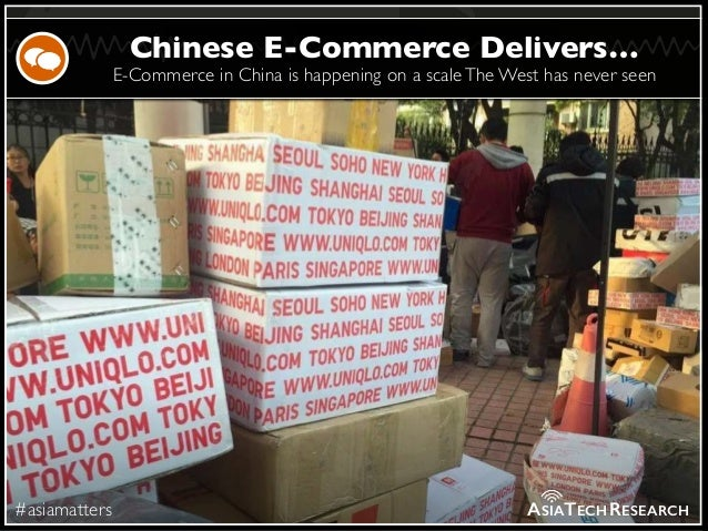 E-Commerce in China is happening on a scaleThe West has never seen #asiamatters Chinese E-Commerce Delivers… ASIATECHRESEA...