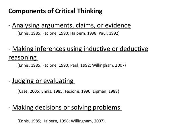 Critical Thinking and the Education of Psychologically Literate     SlidePlayer