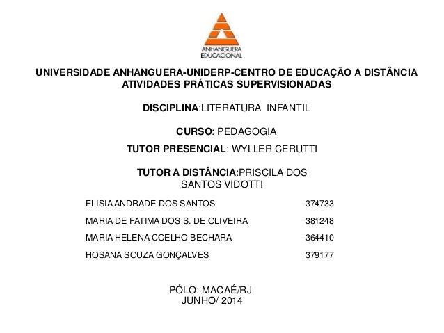 ELISIA ANDRADE DOS SANTOS 374733 MARIA DE FATIMA DOS S. DE OLIVEIRA 381248 MARIA HELENA COELHO BECHARA 364410 HOSANA SOUZA...