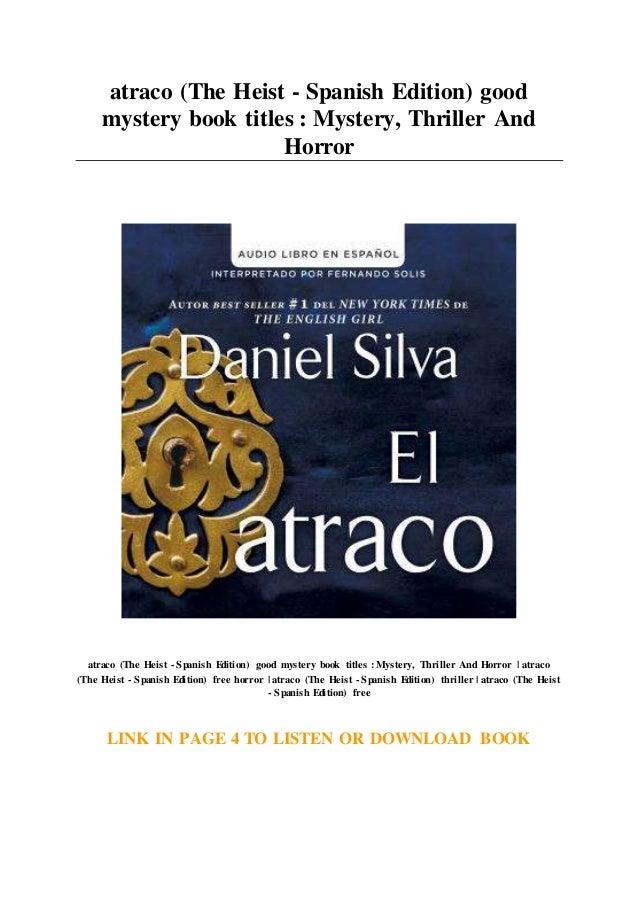 atraco (The Heist - Spanish Edition) good mystery book
