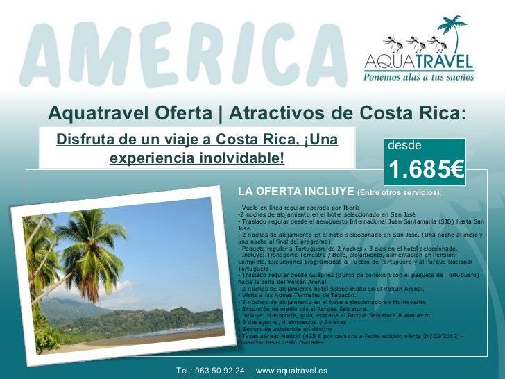 Aquatravel Oferta | Atractivos de Costa Rica:Disfruta de un viaje a Costa Rica, ¡Una                                      ...