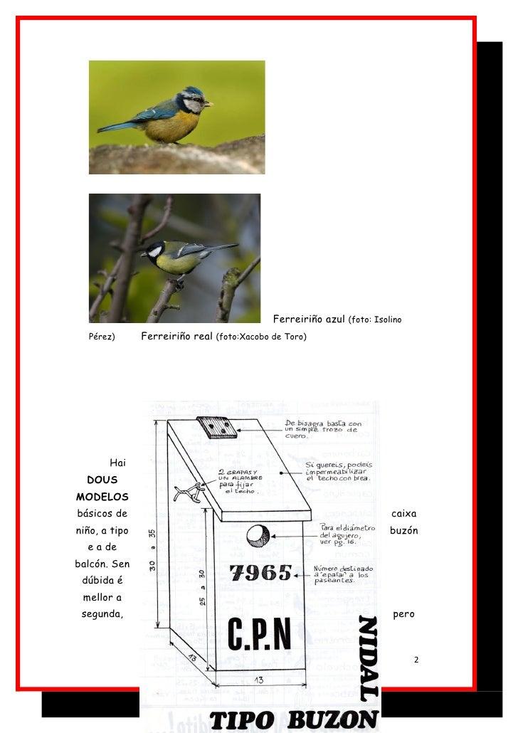 Atraer fauna ao noso entorno. caixa niño. Slide 2
