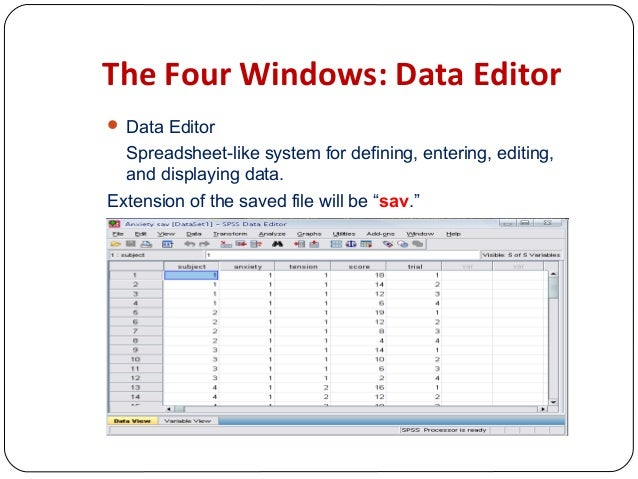 statistical analysis software packages Outlineintroduction to multidimensional data analysismultidimensional techniquesstatistical packages an overview of most common statistical packages.