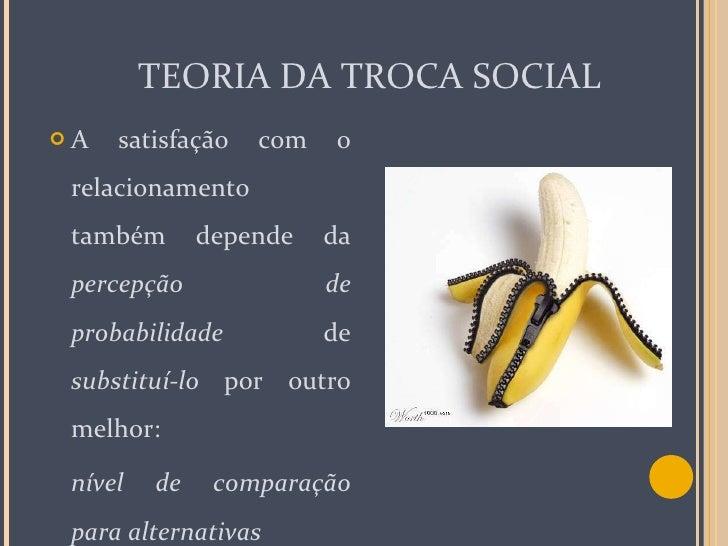 TEORIA DA TROCA SOCIAL <ul><li>A satisfação com o relacionamento também depende da  percepção de probabilidade  de  substi...