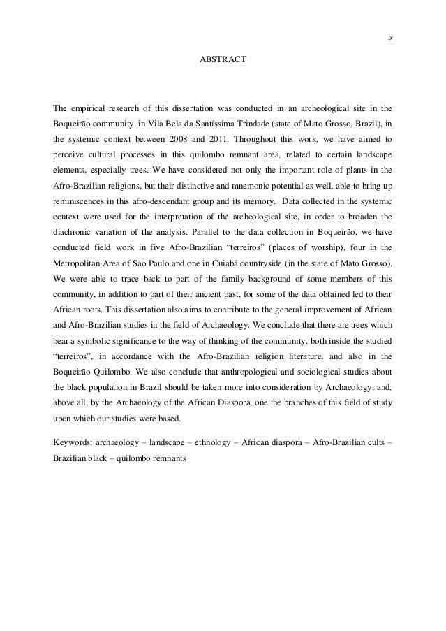 significado de dissertation abstract