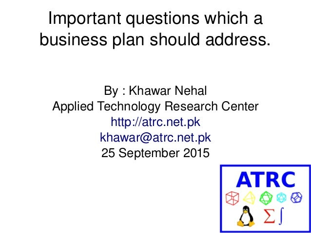 What Should Be Included in the Business Plan?