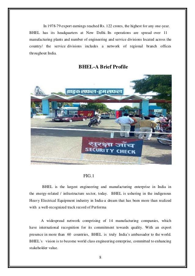 report on bhel Bharat heavy electricals limited jul 03, 2013 project report on bhel 1 1 a project report on bharat heavy electronics limited under the guidance of.
