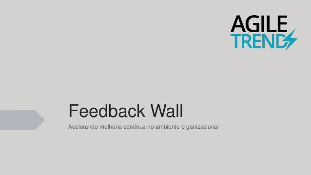Agile Trends 2016 Feedback wall