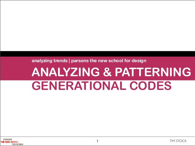 analyzing trends | parsons the new school for designANALYZING & PATTERNINGGENERATIONAL CODES                             1...