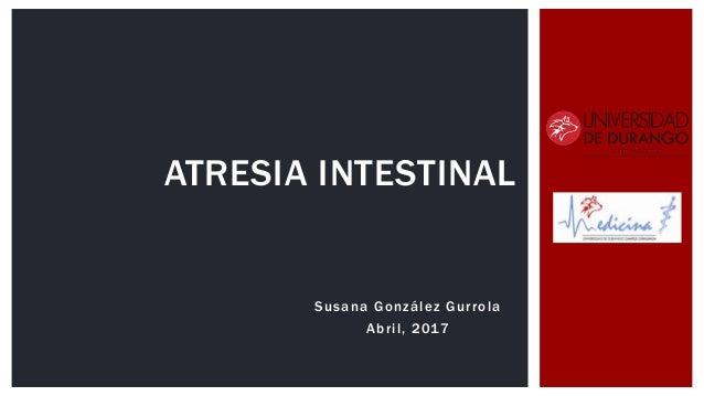 Susana González Gurrola Abril, 2017 ATRESIA INTESTINAL