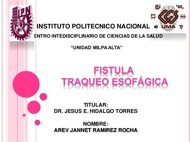 """INSTITUTO POLITECNICO NACIONALCENTRO INTEDISCIPLINARIO DE CIENCIAS DE LA SALUD              """"UNIDAD MILPA ALTA""""           ..."""