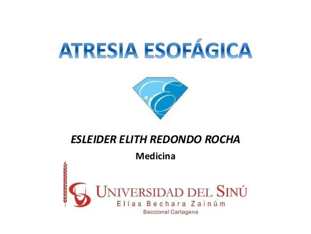 ESLEIDER ELITH REDONDO ROCHA Medicina