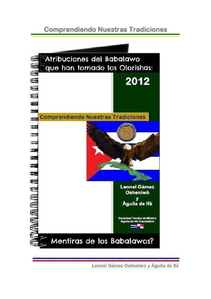 © 2012-BIBLIOTECAS SOCIEDAD YORUBA DE MEXICO Y AGUILADE IFA FOUNDATION- EJEMPLAR GRATUITO-Atribuciones del Babalawo que ha...