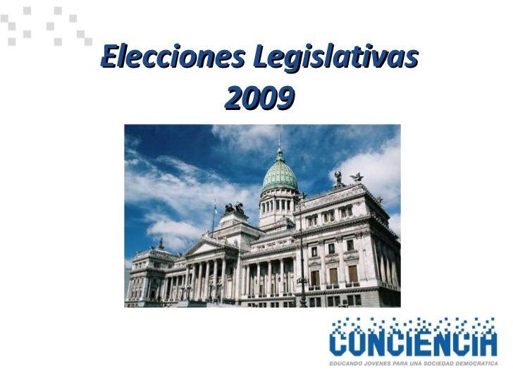 Elecciones Legislativas  2009