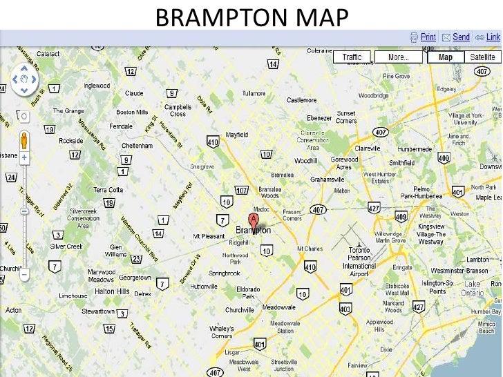Brampton Canada Map.A Trip To Brampton Canada