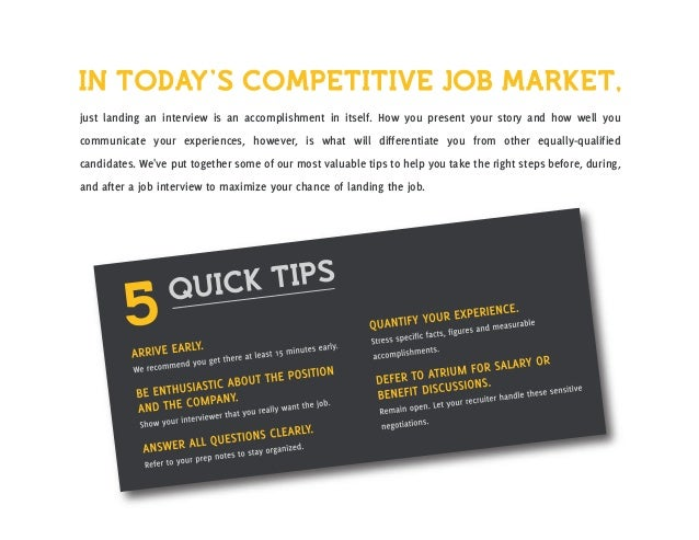 Atriums guide to getting hired interview prep 2 preparing for your interview colourmoves