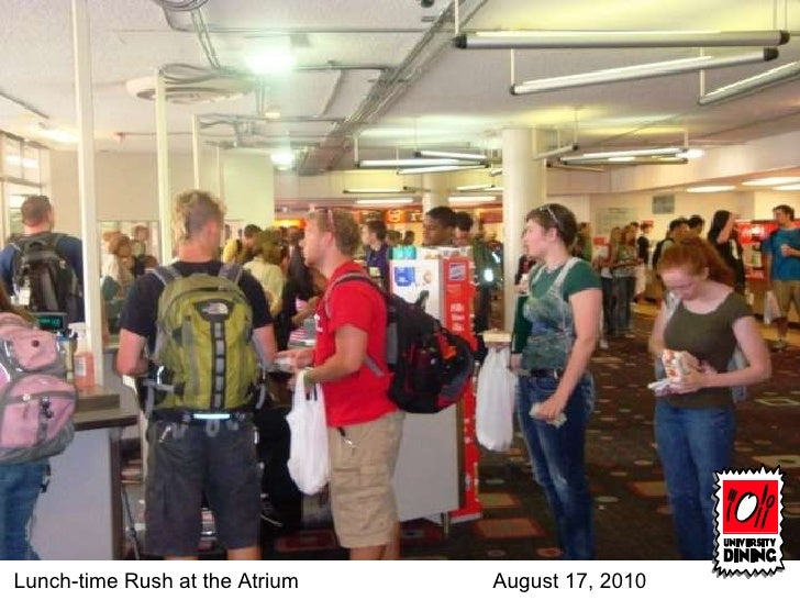 Lunch-time Rush at the Atrium August 17, 2010