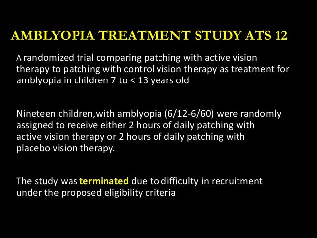 Amblyopia (Lazy Eye) Treatment Study - Full Text View ...