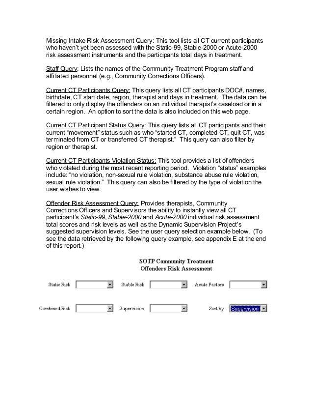 Ct sex offender risk assessment