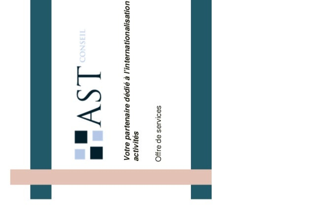 Votre partenaire dédié à l'internationalisation de vos activités Offre de services