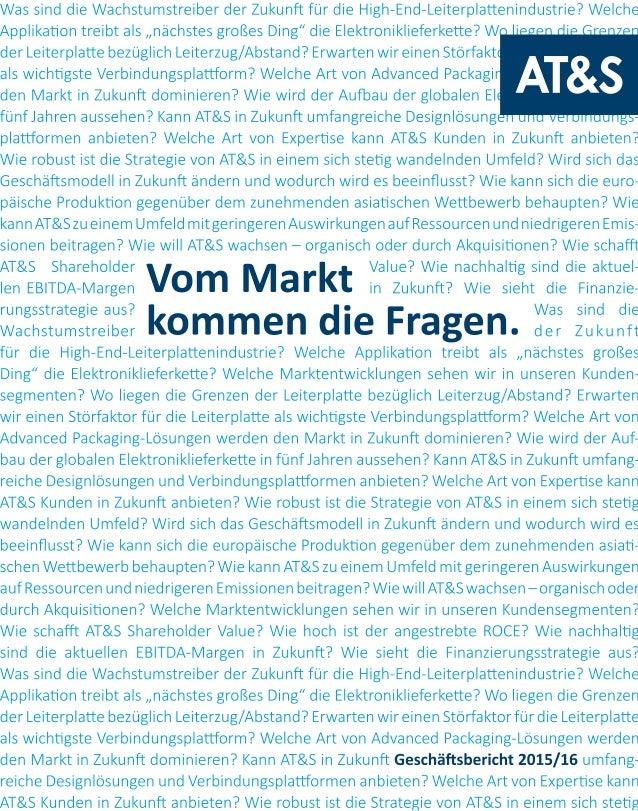 Kennzahlen IFRS Einheit 2012/131) 2013/14 2014/15 2015/16 Veränderung in % ERGEBNIS UND ALLGEMEINE INFORMATIONEN Umsatzer...