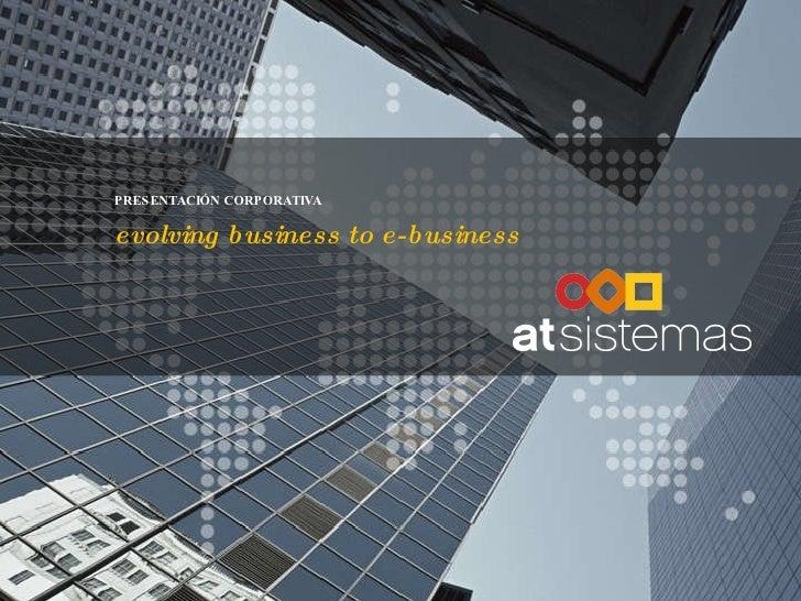 At Sistemas   Presentacion Corporativa