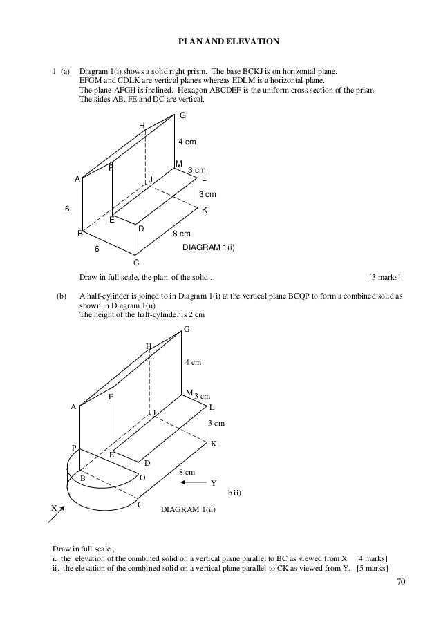 Plan And Elevation Of Prism : Ats maths