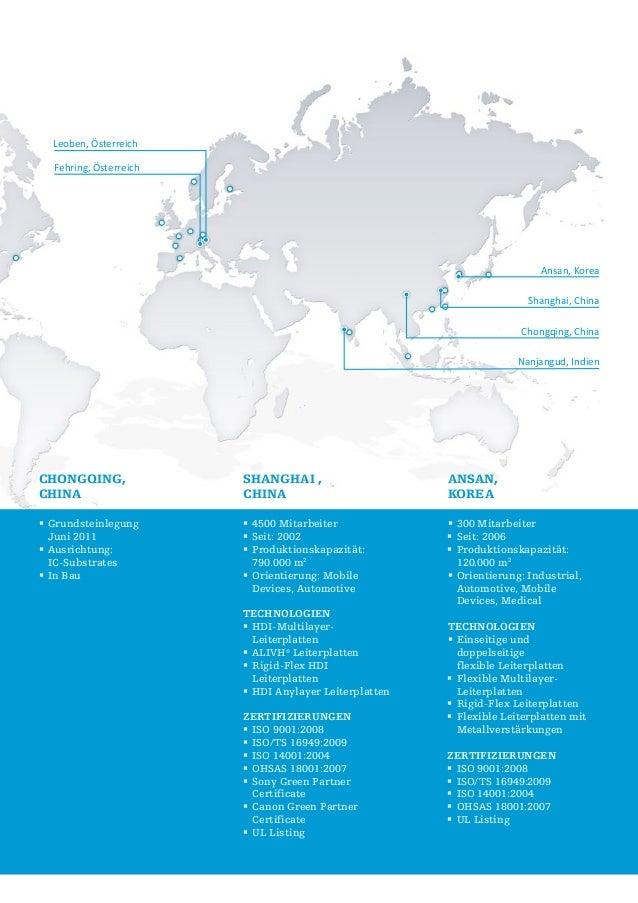 Leoben, Österreich Fehring, Österreich  Ansan, Korea Shanghai, China Chongqing, China Nanjangud, Indien  Chongqing, China ...