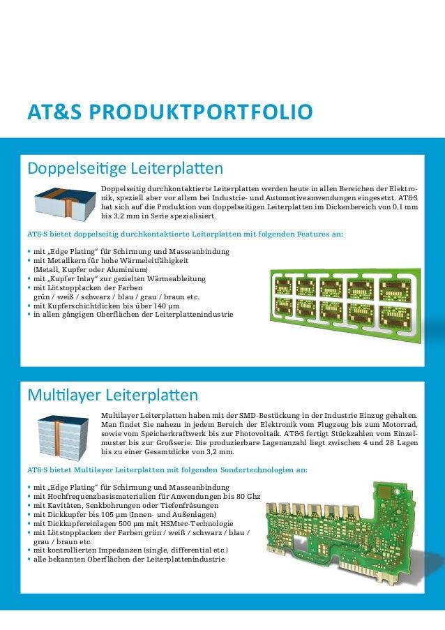 AT&S Produktportfolio Doppelseitige Leiterplatten Doppelseitig durchkontaktierte Leiterplatten werden heute in allen Berei...