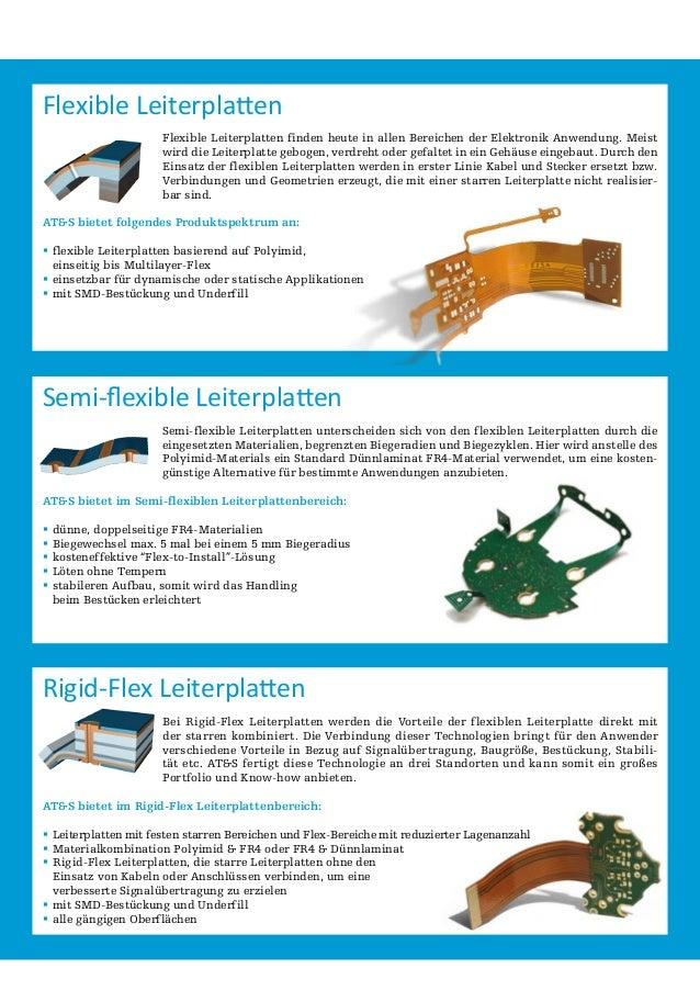 Flexible Leiterplatten Flexible Leiterplatten finden heute in allen Bereichen der Elektronik Anwendung. Meist wird die Lei...