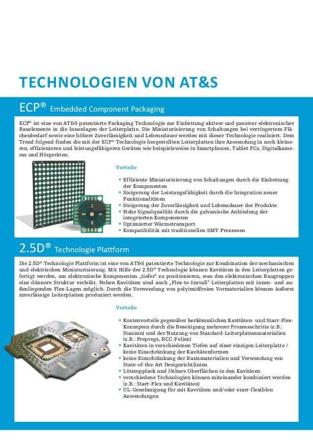 Technologien von AT&S ECP® Embedded Component Packaging ECP® ist eine von AT&S patentierte Packaging Technologie zur Einbe...