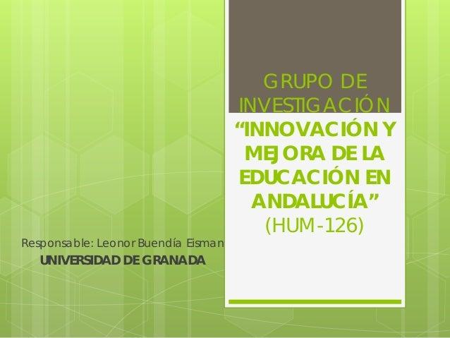 """GRUPO DE                                     INVESTIGACIÓN                                     """"INNOVACIÓN Y              ..."""