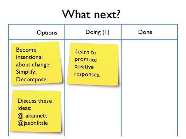 1      Understand Change       - Satir Change, Interaction and Human Validation Process Models       - Type and Temperamen...
