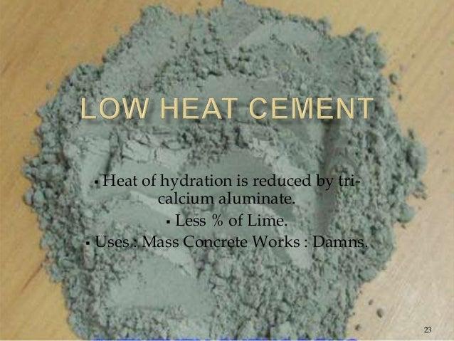 Calcium Aluminate Cement Applications : Cement concrete