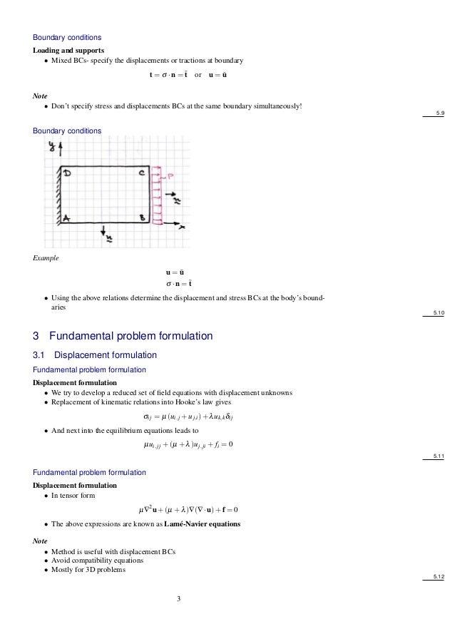 Elasticity problem formulation Att 6582 Slide 3