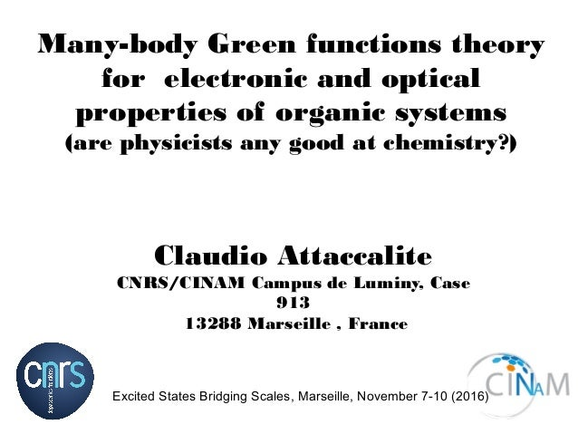 Many-body Green functions theory for electronic and optical properties of organic systems (are physicists any good at chem...