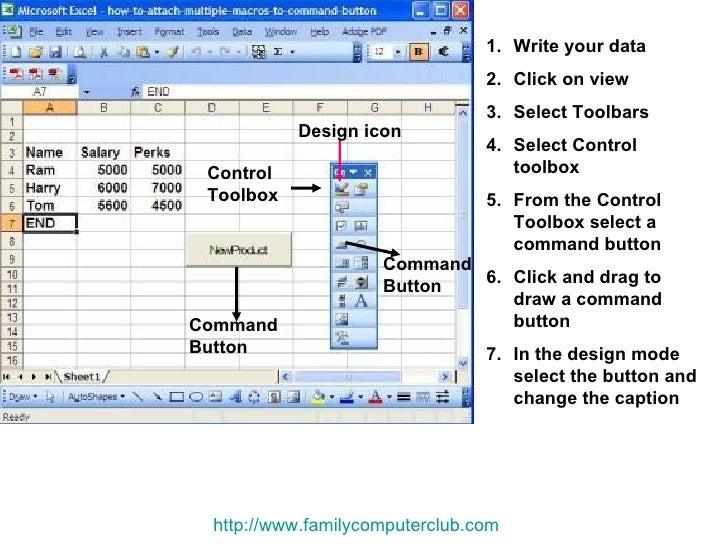 Attach Command Button To Macro