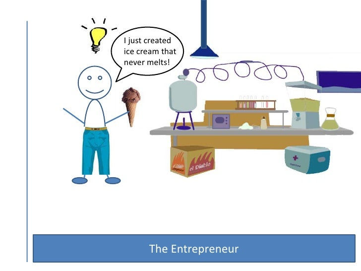 I just created <br />ice cream that <br />never melts!<br />The Entrepreneur <br />